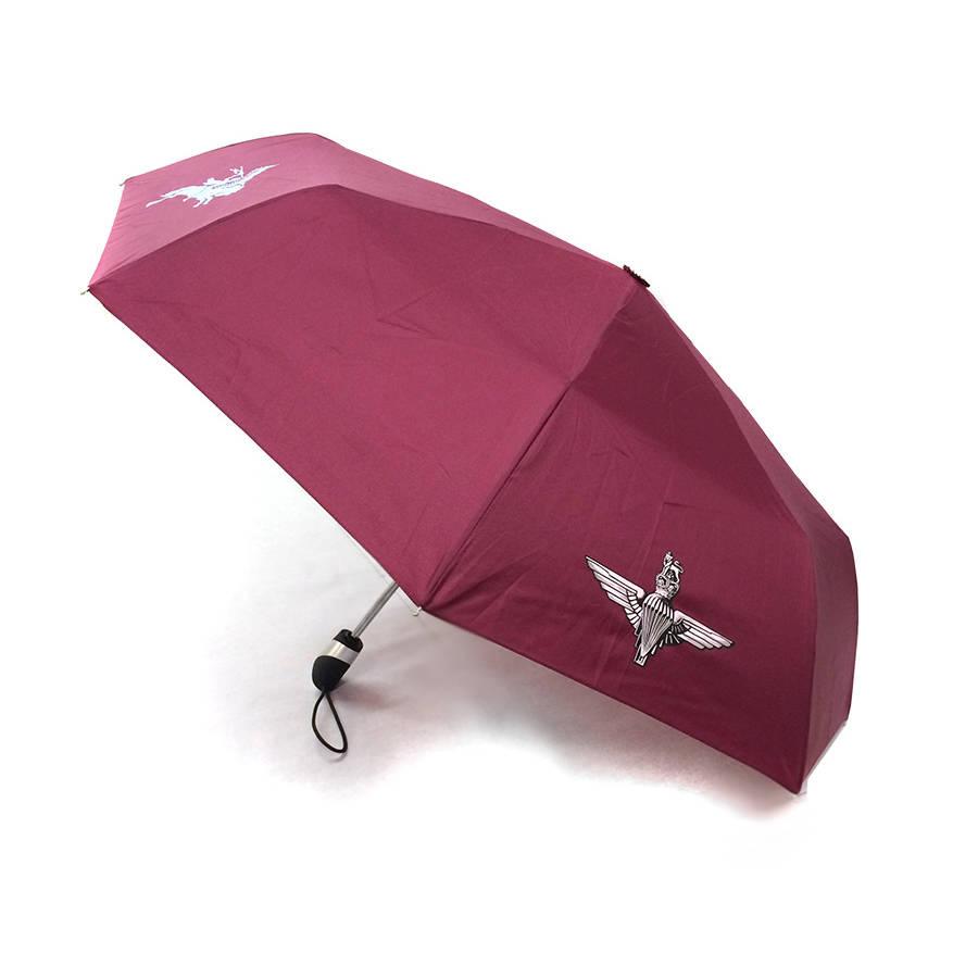 Telescopic Umbrella - Maroon with Para and Pegasus