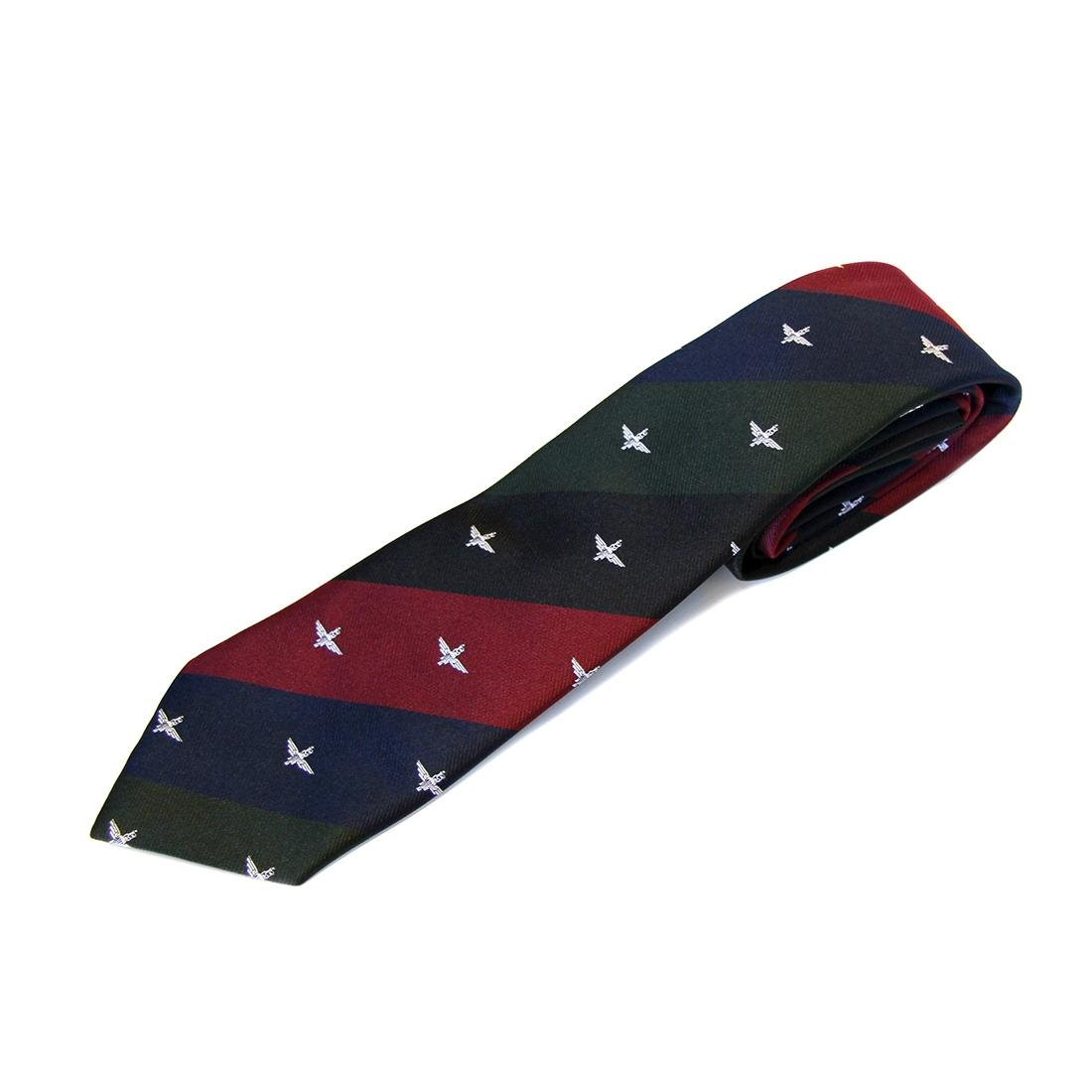 Tie, Para on Maroon, Blue, Green and Black (4 Colour) Stripes (Polyester)