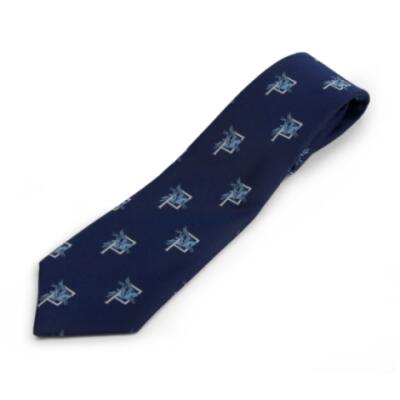 Tie, P Company on Navy (Polyester)