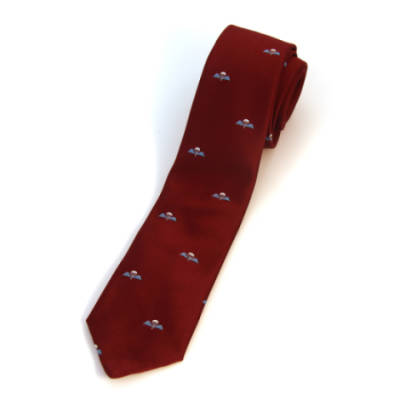 Tie, Regimental Para Jump Wings on Maroon (Polyester)