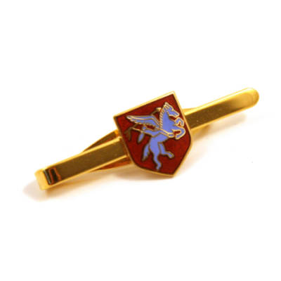 Pegasus Shield Tie Slide (Enamel Badge on Metal Slide)