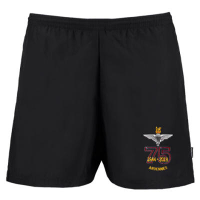Track Shorts - Black - Ardennes 75th (Para)