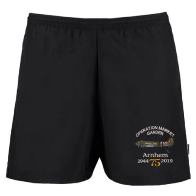 Track Shorts - Black - Arnhem Dakota 75th