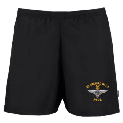Track Shorts - Black - My Grandad Was A Para (Para)