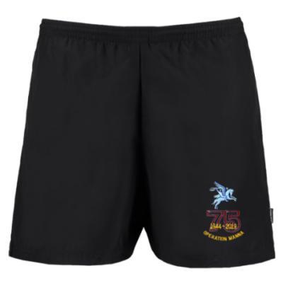 Track Shorts - Black - Operation Manna 75th (Pegasus)
