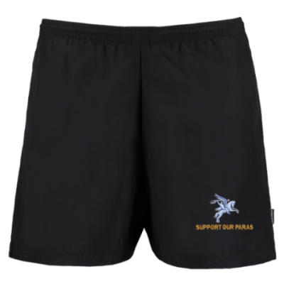 Track Shorts - Black - Support Our Paras (Pegasus)