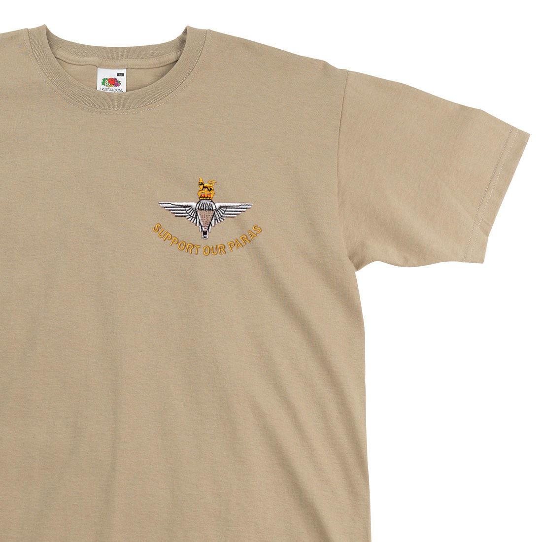 T-Shirt - Support Our Paras (Parachute Regiment) - The Airborne Shop