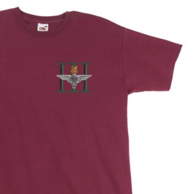 T-Shirt - Maroon - 3 Para (Battalion Numerals)
