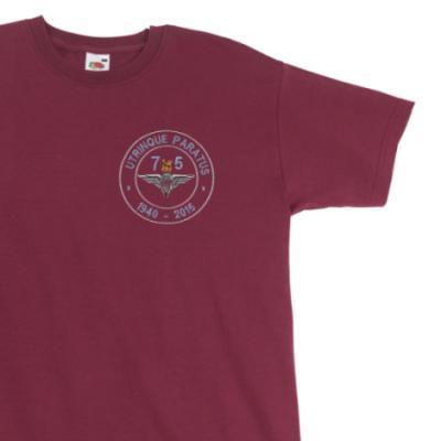 T-Shirt - Maroon - Airborne 75 (Para)