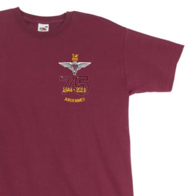 T-Shirt - Maroon - Ardennes 75th (Para)