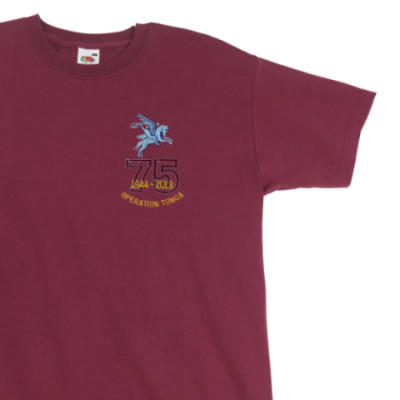 T-Shirt - Maroon - Operation Tonga 75th (Pegasus)