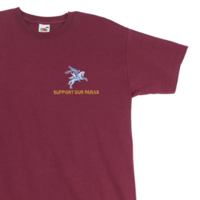 T-Shirt - Maroon - Support Our Paras (Pegasus)