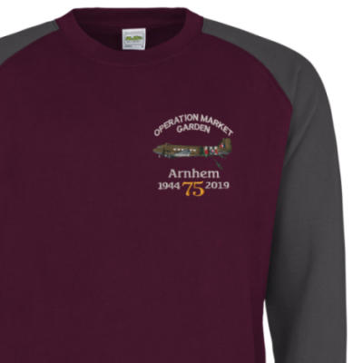Two-Tone Sweatshirt - Maroon / Grey - Arnhem Dakota 75th