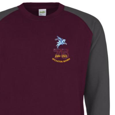 Two-Tone Sweatshirt - Maroon / Grey - Operation Manna 75th (Pegasus)