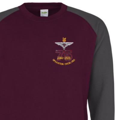 Two-Tone Sweatshirt - Maroon / Grey - Operation Overlord 75th (Para)