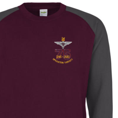 Two-Tone Sweatshirt - Maroon / Grey - Operation Varsity 75th (Para)