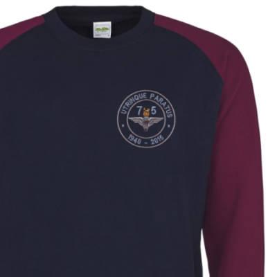 Two-Tone Sweatshirt - Navy / Maroon - Airborne 75 (Para)