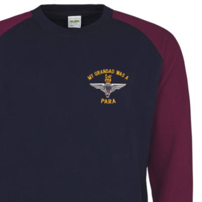 Two-Tone Sweatshirt - Navy / Maroon - My Grandad Was A Para (Para)