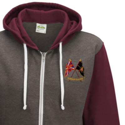 Two-Tone Zip Up Hoody - Maroon - Presentation of Colours 2021