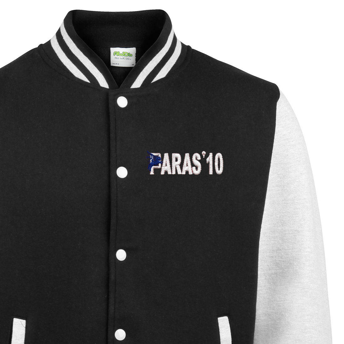 Varsity Jacket - Black / White - Paras 10