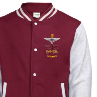 Varsity Jacket - Maroon / Grey - Ardennes 75th (Para)