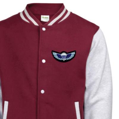Varsity Jacket - Maroon / Grey - Sabre Wings