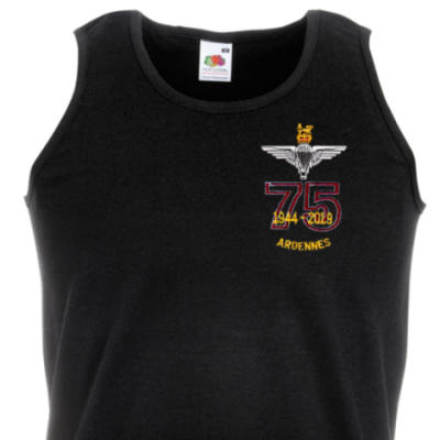 Athletic Vest - Black - Ardennes 75th (Para)