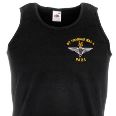 Athletic Vest - Black - My Grandad Was A Para (Para)