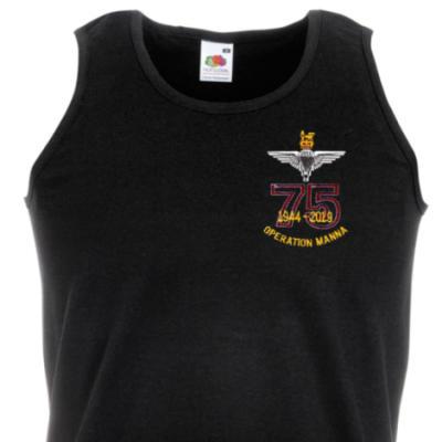 Athletic Vest - Black - Operation Manna 75th (Para)