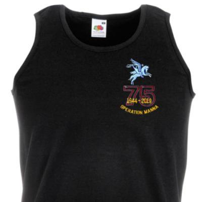 Athletic Vest - Black - Operation Manna 75th (Pegasus)