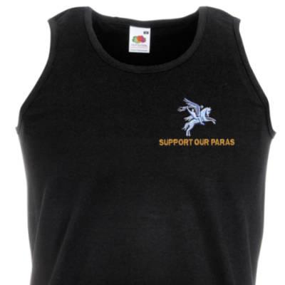 Athletic Vest - Black - Support Our Paras (Pegasus)