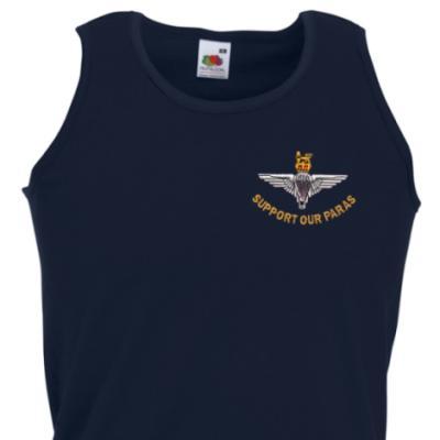 *CLEARANCE* Athletic Vest, Large, Navy, Support Our Paras (Parachute Regiment)