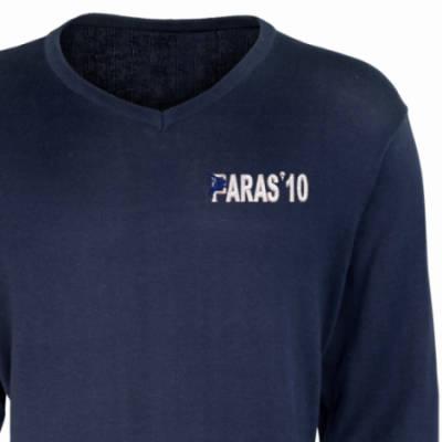 V-Neck Pullover / Sweater - Navy - Paras 10