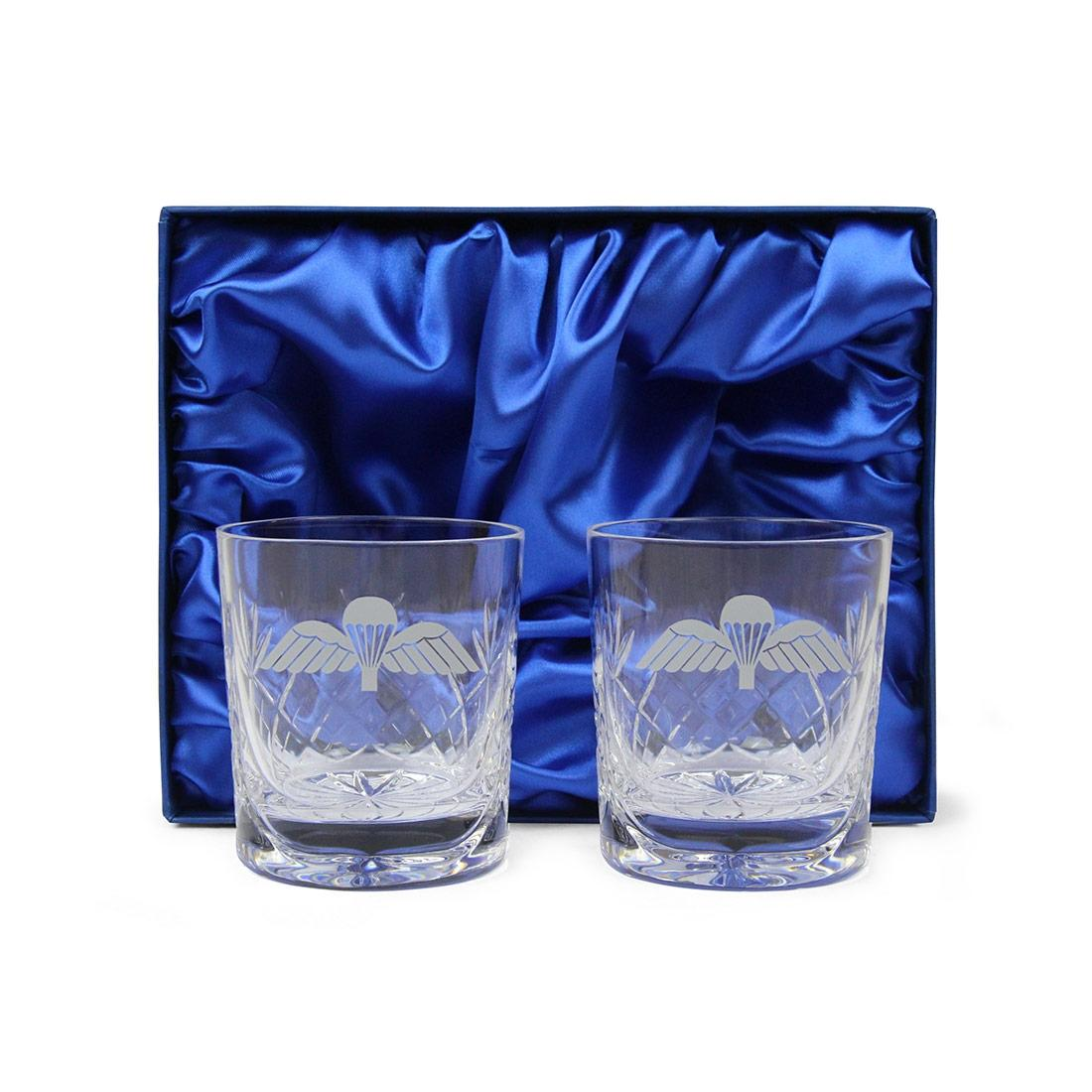 Jump Wings Whisky Glasses (Pair) In Gift Box
