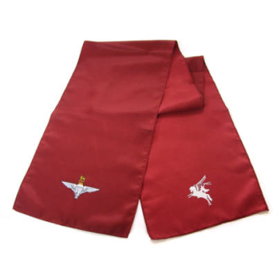 Ladies Scarf - Maroon with Para and Pegasus