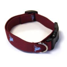 Woven Maroon Dog Collar - Para or Pegasus
