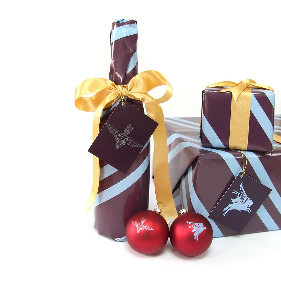 Wrapping Paper Set - 2 Large Sheets + 2 Gift Tags