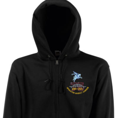 Zip Up Hoody - Black - Operation Market Garden 75th (Pegasus)