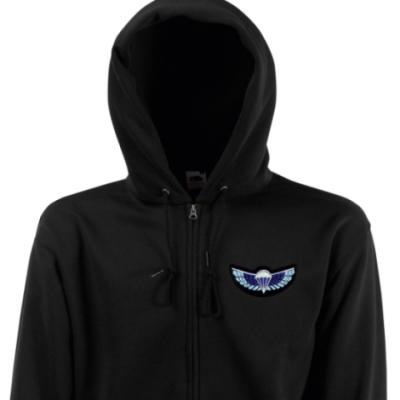 Zip Up Hoody - Black - Sabre Wings