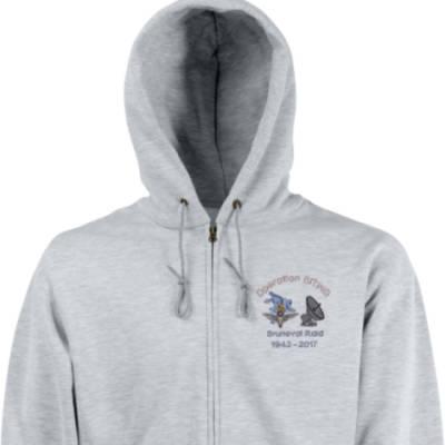 Zip Up Hoody - Grey - Bruneval Raid (Operation Biting) 75th