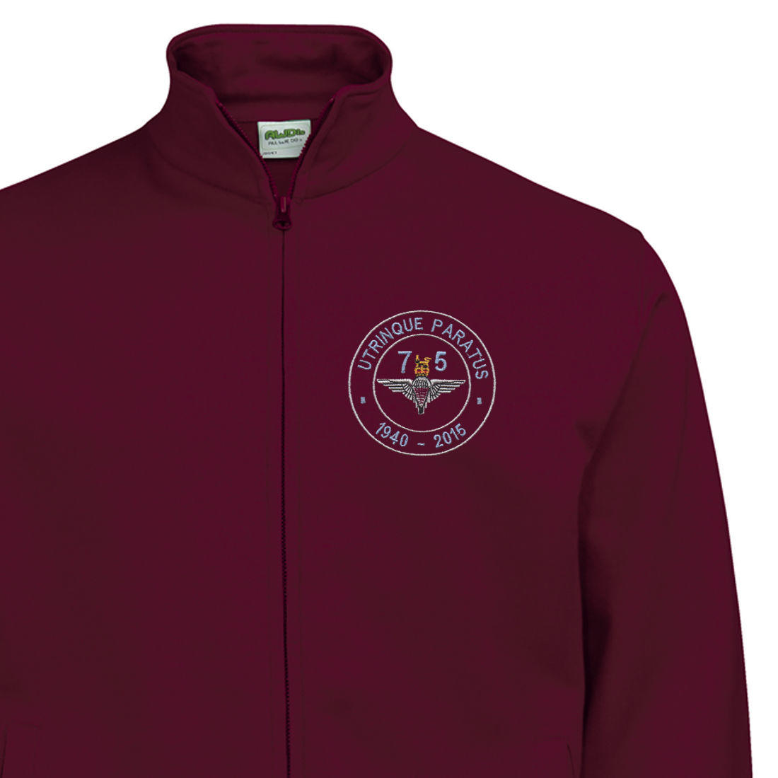 Zip-Up Sweatshirt - Maroon - Airborne 75 (Para)
