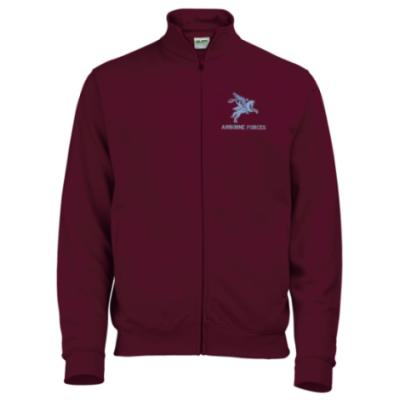 Zip-Up Sweatshirt - Maroon - Pegasus Airborne Forces