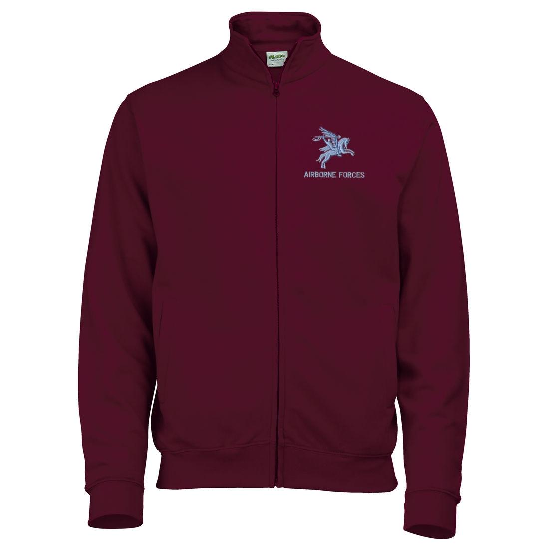 Zip-Up Sweatshirt - Maroon - Pegasus Airborne Forces