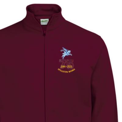 Zip-Up Sweatshirt - Maroon - Operation Manna 75th (Pegasus)